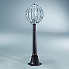 Italian crystal and  bronze garden bollard light