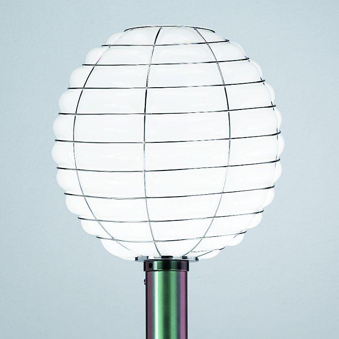 White Glass Italian Garden Lamp Post Italian Designer Exterior Light Outdoo