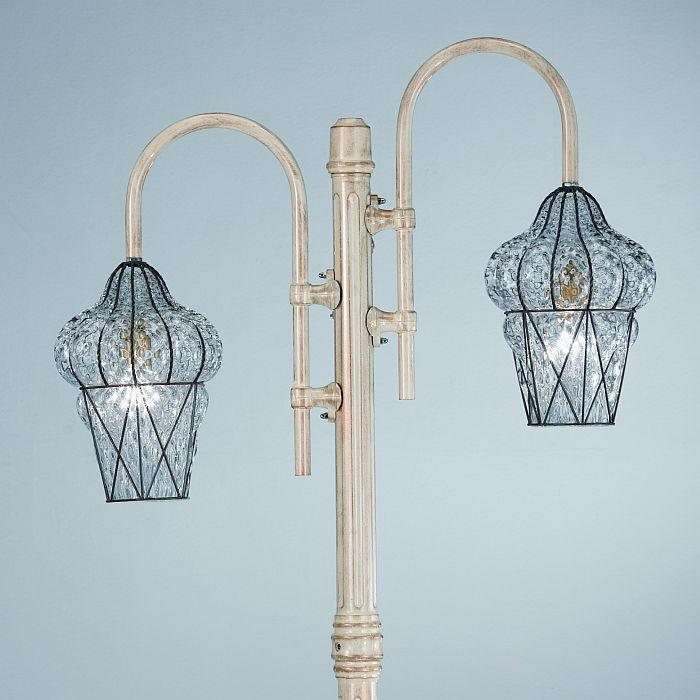 Italian Murano Crystal Lamp Post Designer Garden Light From Italy Outdoor