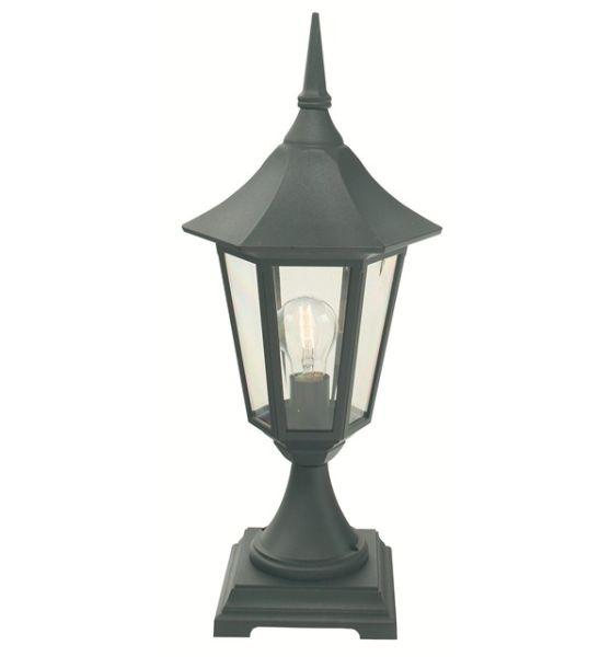 Welhome Bollard Light Garden Pedestal Led Solar Lamps: Elstead V3 Valencia Pedestal Lantern