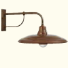La Tinaia Brass and Antiques Copper Wall Lamps