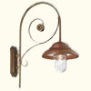 Antiqued Copper Bell Wall Lights