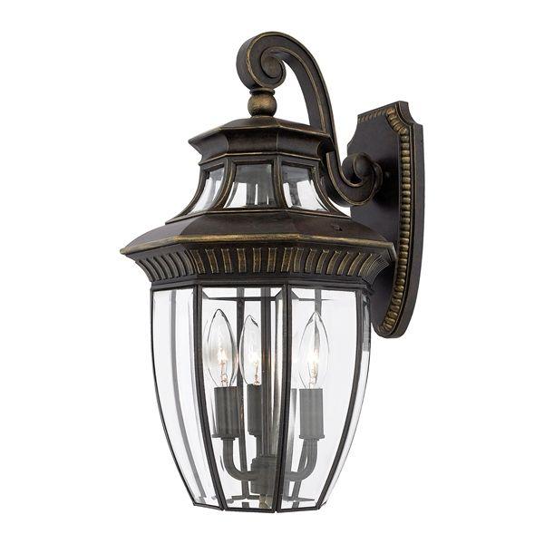 elstead qz georgetown2 m quoizel georgetown bronze wall lantern