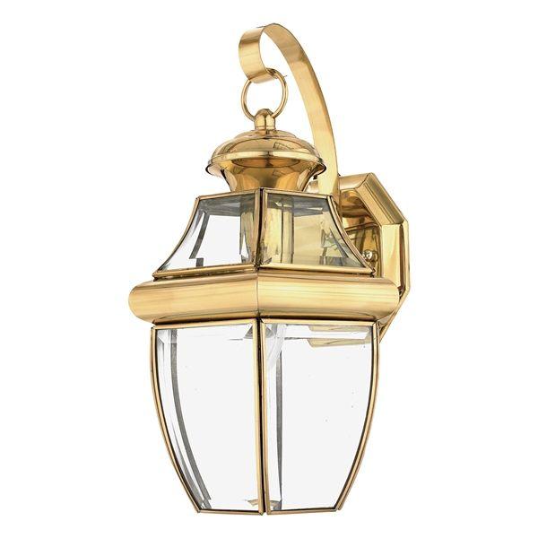 elstead qz newbury2 m quoizel newbury medium brass wall lantern