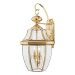 Elstead Newbury QZ/NEWBURY2/L  Large Solid Brass Wall Lantern