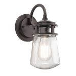 Elstead Lyndon KL/LYNDON2/S Small Bronze Wall Lantern