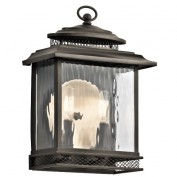 Elstead Pettiford KL/PETTIFORD/M Medium Bronze Flush Lantern
