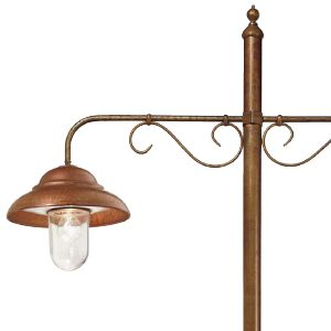 Lamppost with Copper Diffusers