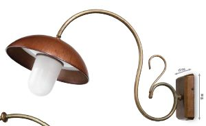 Curved Arm Wall Light
