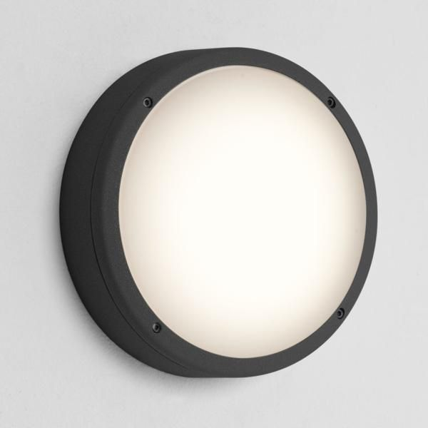 7122 Astro Arta 275 Round Black outdoor lighting modern black wall light, Outdoor Lighting Centre