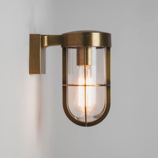 7559 ASTRO CABIN ANTIQUE BRASS WALL LIGHT Exterior brass wall light Modern, Outdoor Lighting ...