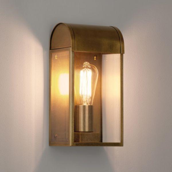 astro 7862 newbury ab brass outdoor lighting exterior wall light