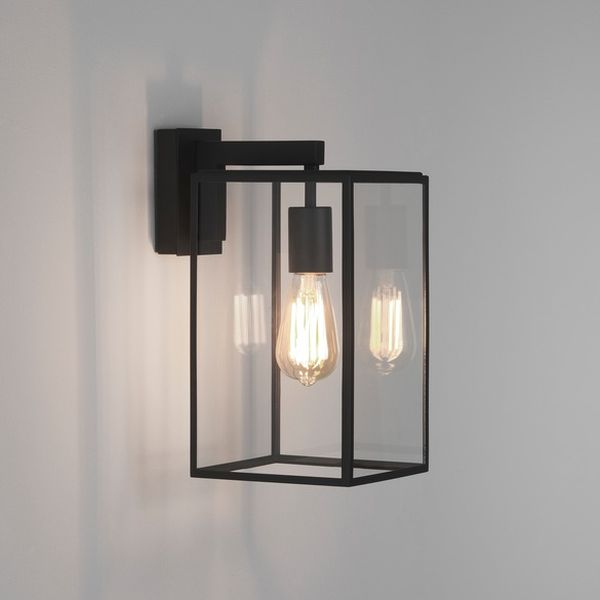 Porch Light Box: 8049 ASTRO BOX LANTERN 350 TEXTURED BLACK
