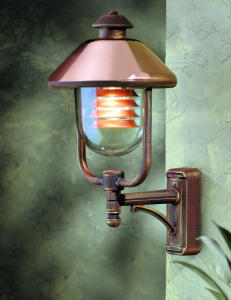 Contemporary Copper Outdoor Lantern Italian Outdoor