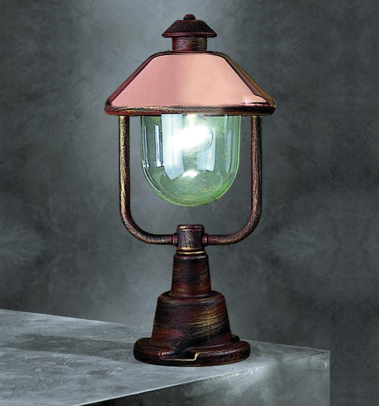 Contemporary Copper Pedestal Lantern Contemporary