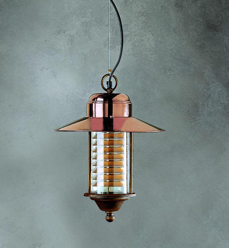 Copper exterior light italian outdoor lights outdoor lighting venato hanging light91012 mozeypictures Images