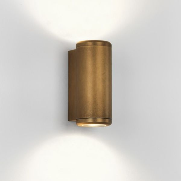 AS4141 Astro · Astro Lighting 7809 Jura Twin Antique Brass Finish Up Down Wall & Copper outdoor lighting | copper outside lights Outdoor Lighting Centre