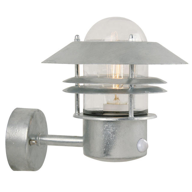 Nordlux Blokhus Up Motion Sensor 25031031 Galvanised Wall Light