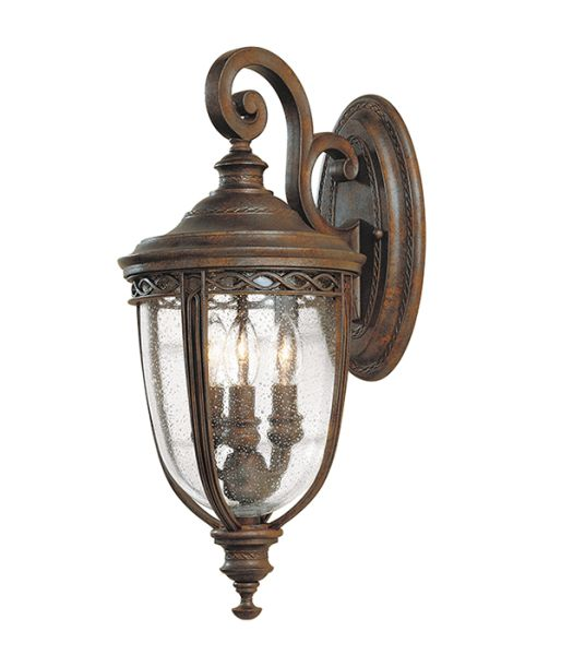 Feiss English Bridle Medium Pedestal Lantern Light Black: Feiss English Bridle Wall Lantern