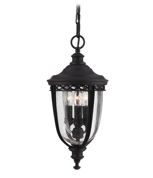 Feiss English Bridle Medium Pedestal Lantern Light Black: Feiss English Bridle Hanging Chain