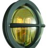 Elstead Norlys Hamburg HAMB E27 ART.621 Rounded Garden Wall Lamp
