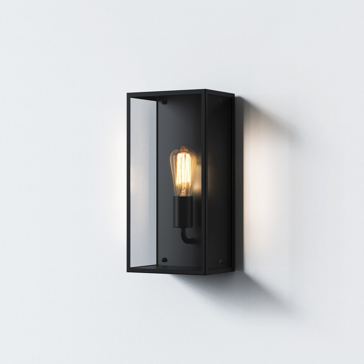 Astro Lighting 1183028 Messina 200 Textured Black Wall Light
