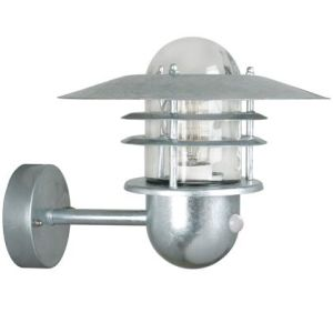 Nordlux Agger 74501031 Galvanized Motion Sensor Wall Light Outdoor PIR Wall Lig, Outdoor ...