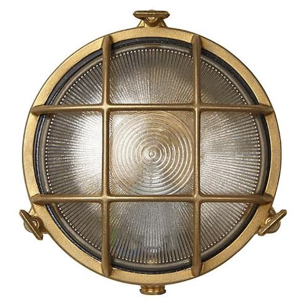 Uber Lamp Rock Round Brass Bulkhead Light[NL271]