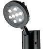 Lutec Nevada Round LED Floodlight with Motion Sensor