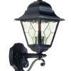 Elstead Norfolk NR1 Outdoor Black Leaded Wall Lantern