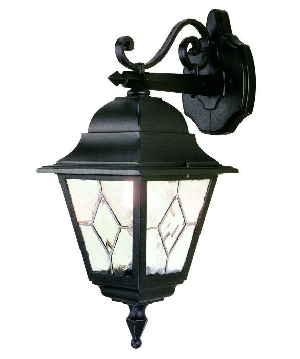 Elstead norfolk nr2 hand leaded outdoor wall lights outdoor elstead norfolk nr2 square black drop down wall lantern2228 aloadofball