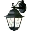 Elstead Norfolk NR2 Square Black Drop Down Wall Lantern
