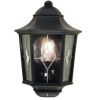 Elstead Norfolk NR7/2 Black Outdoor Half Wall Lantern