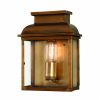 Elstead Old Bailey Antique Brass Wall Lantern