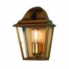 Elstead St. James Antique Brass Wall Lantern