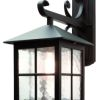 Elstead Winchester BL19 Square Black Wall Lantern