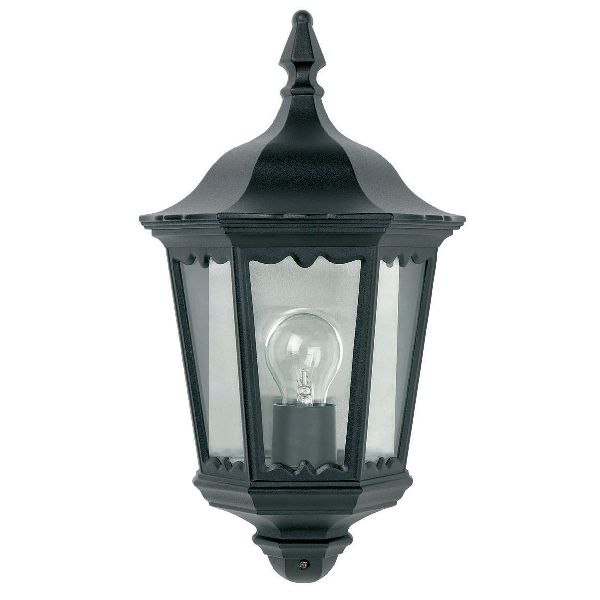 Endon Burford YG-3002 Half Flush Wall Light Black