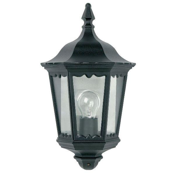 Endon Burford Yg 3002 Flush Half Lantern Outdoor Cast Aluminium Black Wall Lig Outdoor Lighting Centre