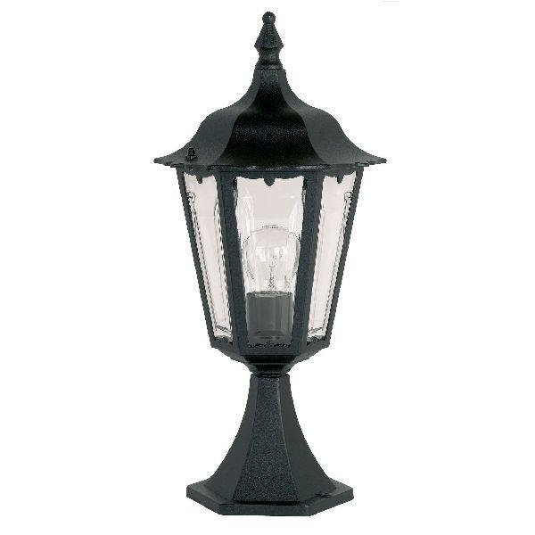 Warwick Pedestal Lantern Light Black: Endon YG-3006 Pedestal Lantern