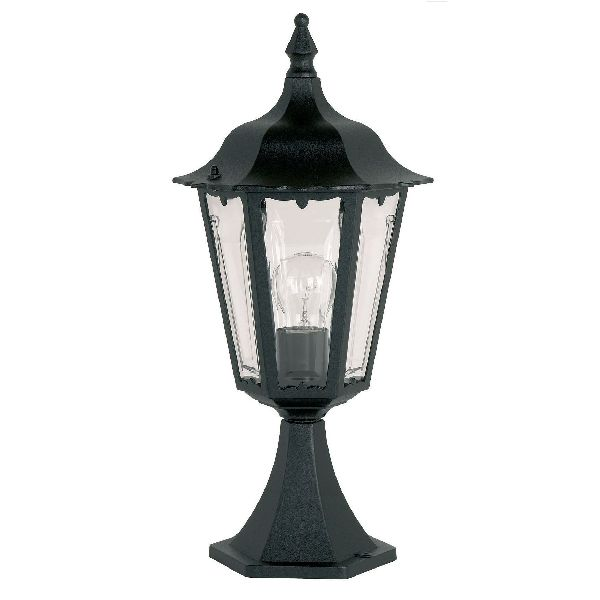 Cheltenham Cast Pedestal Lantern Light Black: Endon Burford YG-3006 Pedestal Lantern