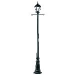Endon Burford YG-3010 Single Lamppost Black