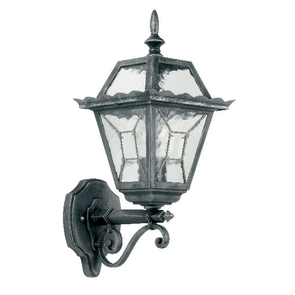 endon riverdale yg 4500 outdoor wall light leaded black silver
