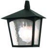 Elstead York Black Half Lantern