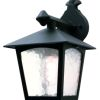 Elstead York BL2 Black Drop Down Wall Lantern
