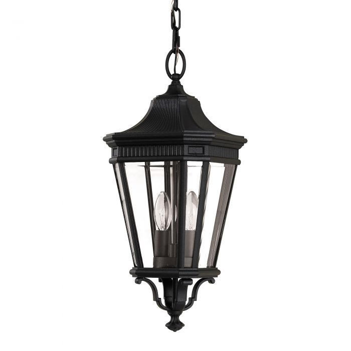 Elstead Cotswold Lane Medium Black Chain Lantern