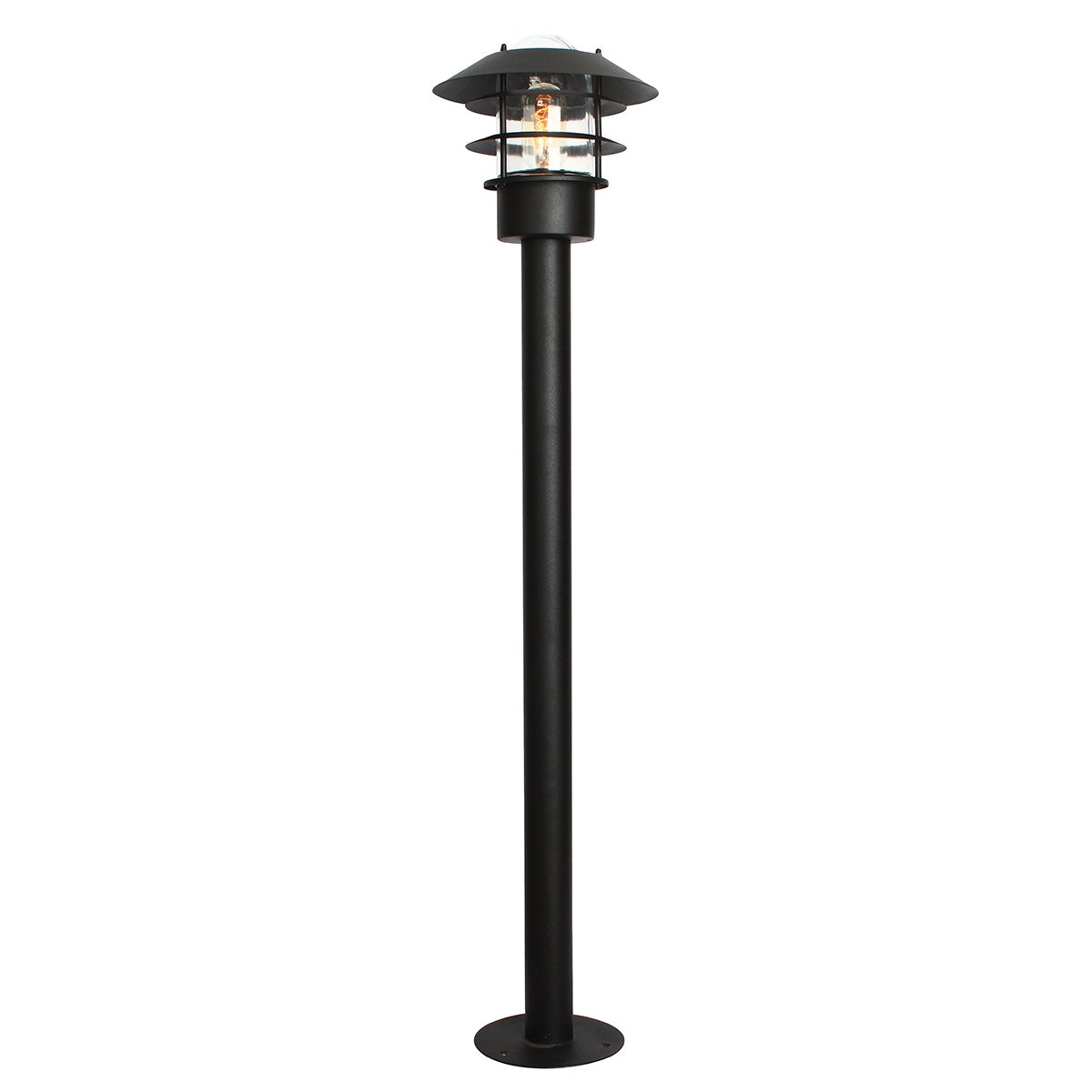 Elstead Helsingor Bollard Stainless Steel Black Finish