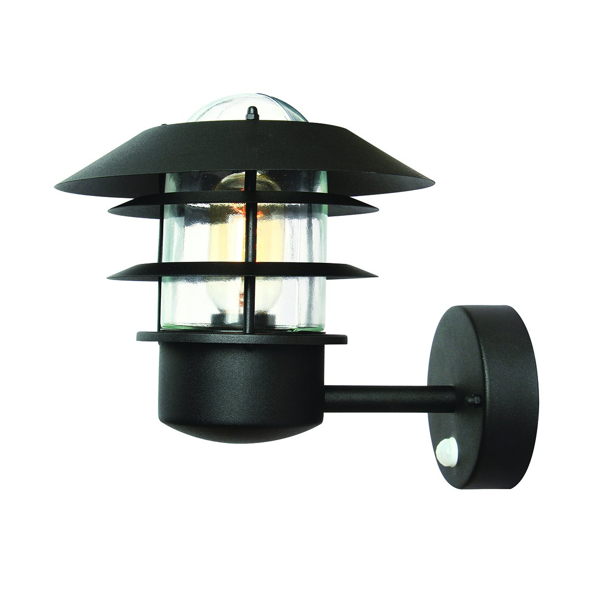 Elstead Helsingor PIR Stainless Steel Black finish wall light