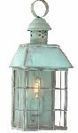 Elstead HYDE PARK V Exterior Wall Lantern in Verdigris Finish