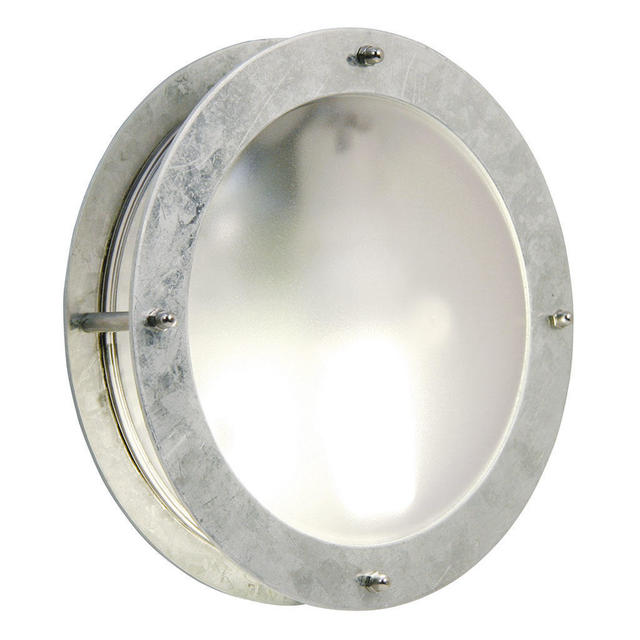 Nordlux Malte Round Galvanized 21861031 Outdoor Wall Light