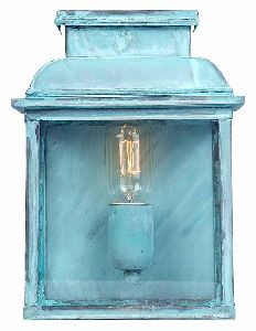 Elstead OLD BAILEY V Exterior Wall Lantern in Verdigris Finish